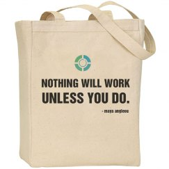 Nothing Quote-Canvas Tote
