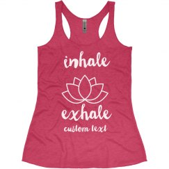 Inhale Exhale Yoga Lotus Tank