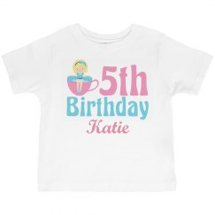 Cute 5th Birthday Tea Party Girl