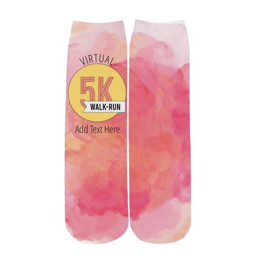 5K Badge Custom Running Socks