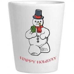 Snowman Shotglass