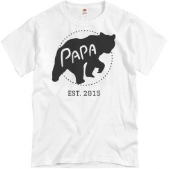 Personalized Papa Bear Dad Est.