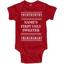 Custom Baby's First Ugly Sweater