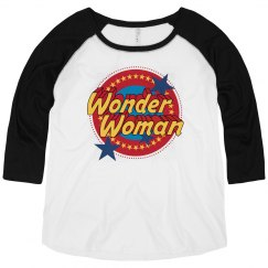 Wonder Woman Vintage Plus Raglan