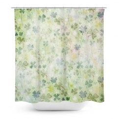 Four Leaf Clovers Shower Curtain