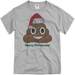 Lg Santa Poop Clause  grey