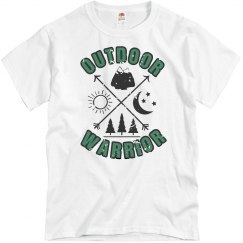 Outdoor Warrior unisex green distressed