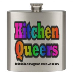 Kitchen Queers Rainbow Logo Flask