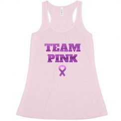 Metallic Team Pink Breast Cancer Racerback