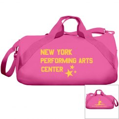 Pink yellow duffel