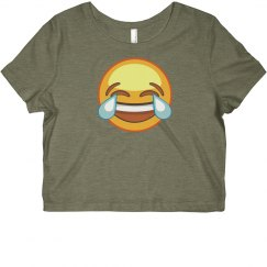 laugh emoji crop top