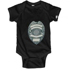 Future Cop Baby One Piece