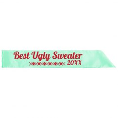 Best Ugly Sweater Sash