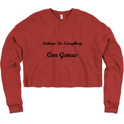 Spanglish Crop Sweatshirt- Con Ganas