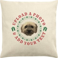 Custom Christmas Pet Photo Pillowcase Gift