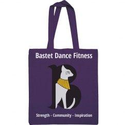 Bastet Dance Fitness Canvas Tote Bag