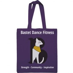 Bastet Dance Fitness Canvas Tote Bag