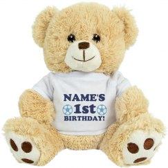 Custom Name First Birthday Bear