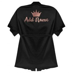 Custom Rose Text Queen Gift