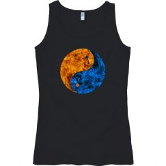 Blue Orange Fire Yin Yang