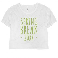 Custom Date Spring Break Crop Top