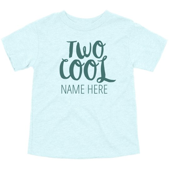 Two Cool Custom Birthday Shirt Toddler Triblend T