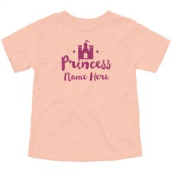 Custom Name Princess Castle Design