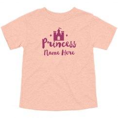 Custom Name Princess Castle Design