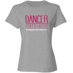 Dancer Athlete Artist | T-shirt (Grey) | Customizable
