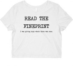 Read the Fineprint: Hope