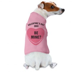Be Mine Dog Valentine