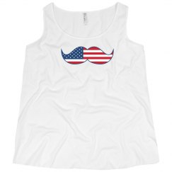 Fourth of July Mustache Tank