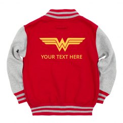 Custom Text Wonder Woman Kids