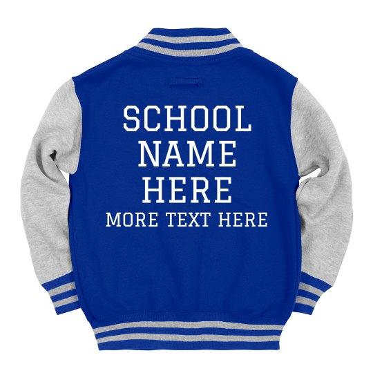 3f7577604bf Custom Kids School Pride Spirit Wear Youth Varsity Letterman Jacket