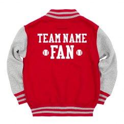 Custom Kids Baseball Fan Jacket