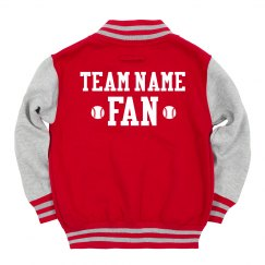 Custom Kids Baseball Fan Jacket