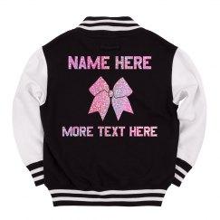 Custom Glitter Text Cheer Jacket