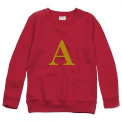 A initial sweater