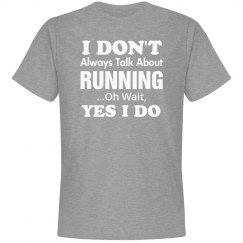 Don't always talk about Running