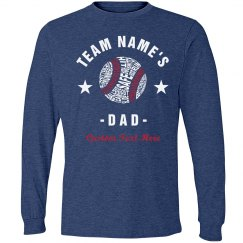 Custom Team Name Baseball Dad