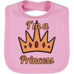 I'm a princess bib