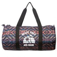 Add Your Name Beach Vibes Duffel Bag