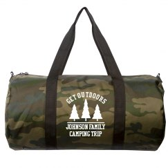 Get Outdoors Tailor-Made Family Name Camping Duffel Bag