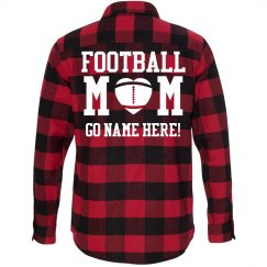 Custom Plaid Football Mom
