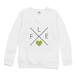 YOUTH FLEX Heart Crewneck Sweatshirt