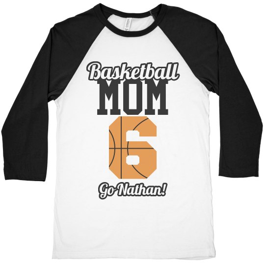 598bba9f0 Customize Basketball Mom Shirts With Custom Text Unisex 3 4 Sleeve Raglan T- Shirt  This Mom Means Business!