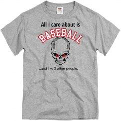 Men's Baseball Skull Tee