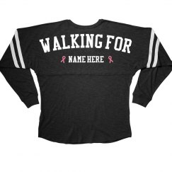Walking For Breast Cancer Metallic Ribbon