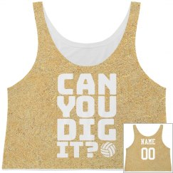 Dig It Volleyball Sand Print