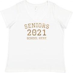 Rose Gold Seniors Plus Size Tee